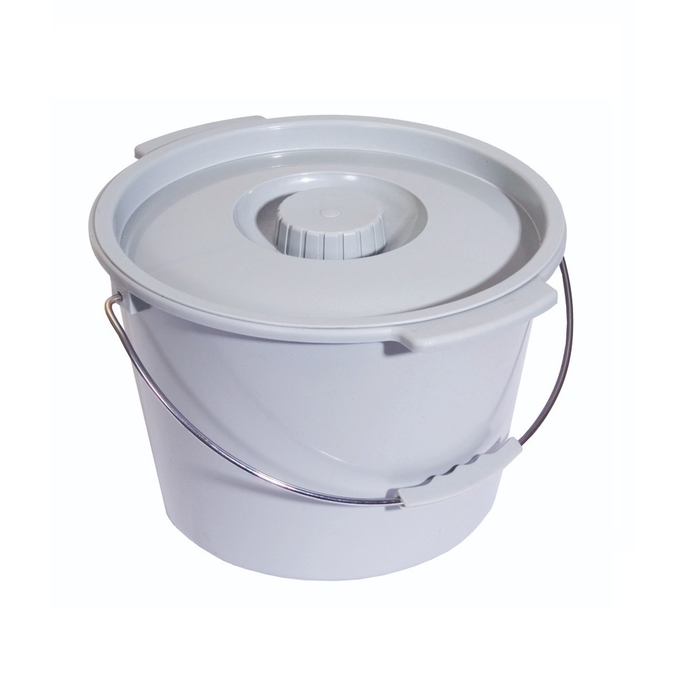 Universal Pail With Lid for a Standard Commode